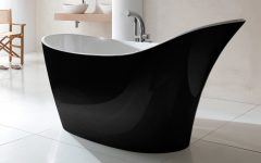 Amalfi Black Freestanding Bath