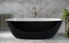 Barcelona Black Freestanding Bath