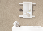 Baltic Sliding Mirror White