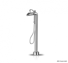 Pure Bath Mixer with Hand-Shower (Brushed)